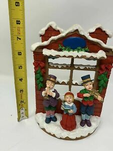 Vintage Christmas Carol Kids Window  Design Sculptured by Jaimy 8x6x3