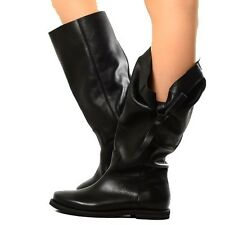 Stivali Morbidi Biker Boots Scarpe Donna Pelle Neri Indian Alternative Imbuto