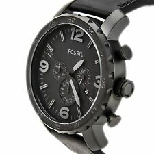 NEW Authentic FOSSIL Nate Black Ion Plated Mens watch JR1354
