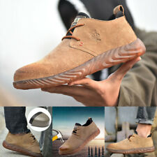 HOT Mens Lightweight Business Formal Leather Safety Shoes Steel Toe Work Boots K