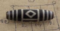 Dzi Perle Tibetano Diamante Himalaya Antico Agata Puro Feng 1051 - B20