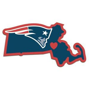New England Patriots Vinyl Home State Pride Decal [NEW] Auto Car Truck Window