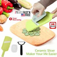 kitchen Tool Kit Bonus Ceramic Peeler Fruit Vegetable Cutter Mandoline Slicer US