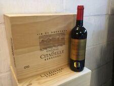 6 bouteilles Caisse bois  Chateau la Citadelle Bordeaux millésime 2019