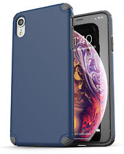iPhone XR Case / Cover Ultra Slim Protective Thin Grip Phone Cover (Nova) Blue