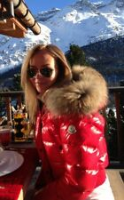 MONCLER WOMEN JACKET PARKA ALPIN COAT RED SIZE 2 DOWN PUFFER AUTHENTIC LUXURY