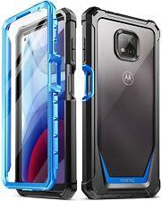 Motorola Moto G alimentación (2021) caso , Poetic ® de Doble Capa a Prueba de impactos Cubierta Azul