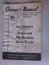 1951 International Harvester McCormick Improved All Purpose Farm Truck Manual