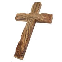 "Christian Handmade Olive Wood Cross Protecting from Bethlehem Holy Land 8""/20cm"