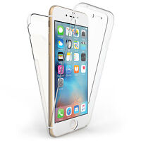 Clear 360 Silicone Gel Full Body Case Cover for Apple and Samsung Mobile Phones