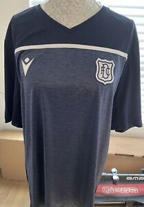 Dundee FC Macron Blue Training Shirt, New, XL