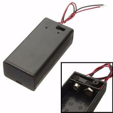 9V Volt Battery Holder Pack Box Case Wire Lead w/ ON-OFF Power Switch Toggle