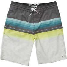 Billabong Spinner 21 Lt Oomo Cotone Poli Stretch Pantaloncini Da Barca 32 Blu Swimwear Men's Clothing