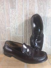 SEBAGO Classic Dark Brown Slip On Penny Loafers Cordo Leather Moc Toe Size 11 C