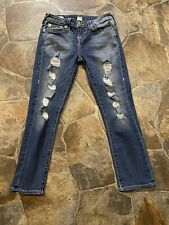 """True Religion """"Halle"""" Mid-Rise Capri Jeans!!(26)"""
