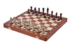 Wooden Folding Brand New Luxury TOURNAMENT 3 Wooden Chess Set 35cm x 35cm