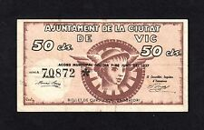 F.C. VIC (BARCELONA) 50 CENTIMOS , SERIE A , EBC- .