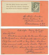 Oct 1947 Tonga post-Tin Can Mail pc from Quensell to Crocker