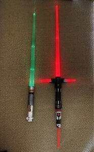 Hasbro Kylo Ren Lightsaber + Luke Skywalker Lightsaber both With Lights & Sound
