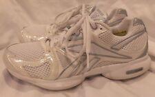 REEBOK SILVER WHITE EASYTONE USA WOMENS WALKING ATHLETIC SHOES SIZE 6