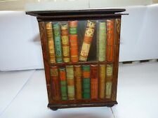 More details for antique huntley & palmers bookcase with books biscuit tin