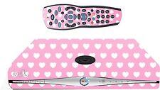 Pink Love Hearts Sticker/Skin SKY HD BOX & Remote controller/controll sk18