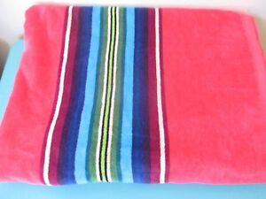 NEW Pendleton Spa Bath Towel Pool Beach Home Collection NWT Stripe Pink Multi
