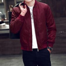 Men'S Zipper Business Jacket Fight Bomber Coat Thin Autumn Baseball Outwear CA
