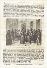 1871 Illustrazione: Ingresso di un bagno Russo il Sabato (bagni a vapore)