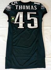 #45 Thomas Authentic Game Issued Eagles Nike Jersey - 2012 season