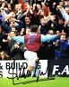 Steve Jones SIGNED West Ham United 10x8 Photo AFTAL COA