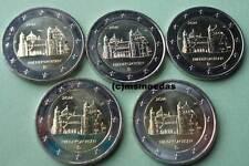 Deutschland 5 x 2 Euro Gedenkmünzen 2014 Niedersachsen commemorative A,D,F,G,J