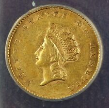 1854 Type 2 $1 One Dollar Gold Coin ANACS AU-55 Details Damaged Cleaned