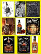JACK DANIELS 9 DIFFERENT FRIDGE MAGNETS BIRTHDAY THIN FLEXIBLE BIRTHDAY MUM DAD