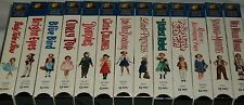 Shirley Temple VHS 13 Movies Lot Blue Bird Curly Top Dimples Bright Eyes Rebel