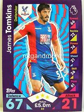 Match Attax 2016/17 Premier League - #080 James Tomkins - Crystal Palace