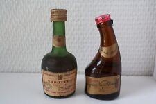 mignonettes miniature bottle COGNAC NAPOLEON Courvoisier + Marmot grande reserve
