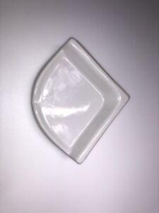 American Olean Ceramic Tile Corner Shelf Soap Dish Bath Bathroom Shower White