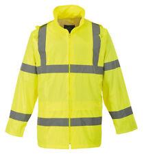 Portwest Workwear Mens Hi-vis Rain Jacket XL H440yerxl Yellow