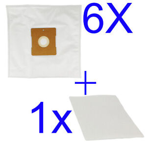6 Bags + 1 Filters compatible with Hoover Conquest VC 9009 H5001, Silverado 1400