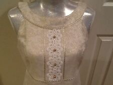 Lilly Pulitzer Gold embellished damask a-line dress 6 $368 nwt