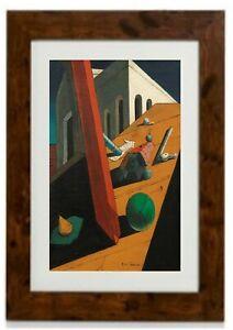 The Evil Genius of a King Framed Print by Giorgio de Chirico