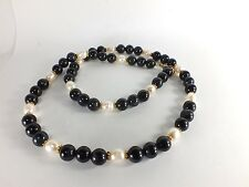 Tigers Eye Blue & FWP Bead Necklace (EA5513) crystal stone gem gold filled