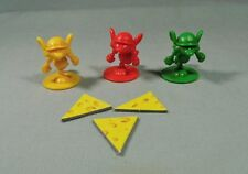 Mouse Trap Game 2005 Parts - 3 Tokens & 3 Cheese pieces   #MT02