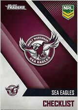 2017 NRL Traders Base Card (051) SEA EAGLES Check List