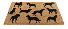 Gardman 45x75cm Coir Door Mat, Non Slip Entrance, Dog Montage Design Floor Rug