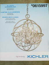 Kichler Vivian 6-Light Brushed Nickel Modern/Contemporary Clear Glass Chandelier