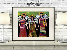 Angels Mexican Folk Art Print Painting Heather Galler 11x14 SIGNED
