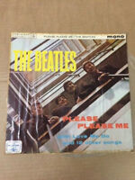 THE BEATLES PLEASE PLEASE ME PARLOPHONE BLACK mono RARE LP record INDIA EX