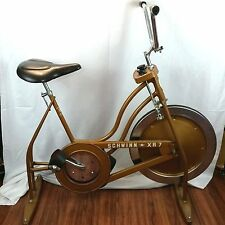 Schwinn Vintage XR-7 Exerciser Stationary Bicycle Gold Exercycle XR7